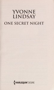 Cover of: One secret night