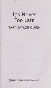 Cover of: It's never too late