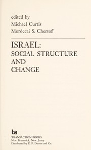 Cover of: Israel: social structure and change