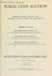 Cover of: Public coin auction | Schulman Coin & Mint, Inc