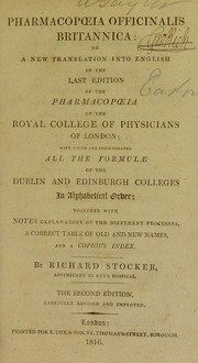 Cover of: Pharmacop¿ia officinalis Britannica: or a new translation into English of the last edition of the pharmacop¿ia of the Royal College of Physicians of London | Royal College of Physicians of London