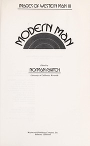 Cover of: Modern man | Norman Ravitch