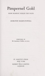 Cover of: Pimpernel gold | Dorothy Baden-Powell