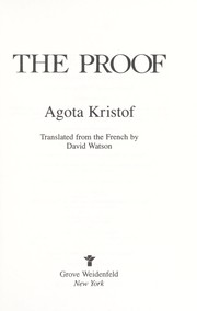 Cover of: The proof