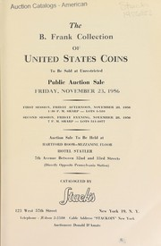 Cover of: The B. Frank collection of United States coins | Stack