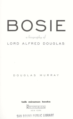 Bosie by Murray, Douglas