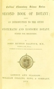 Cover of: Second book of botany
