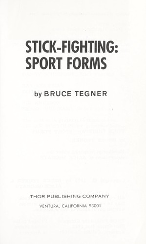 Stick fighting: sport forms by