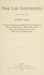 Cover of: Poor law conferences | Central and District Poor Law Conferences (1897-1898 Great Britain)