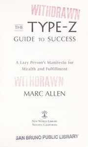 Cover of: The Type-Z guide to success