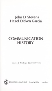 Cover of: Communication history | John D. Stevens