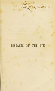 Cover of: A manual of the diseases of the eye