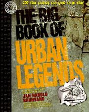 Cover of: The big book of urban legends