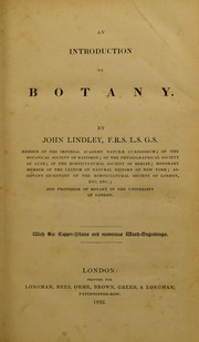 Cover of: An introduction to botany