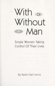 Cover of: With or without a man