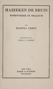 Cover of: Marieken de Bruin: somewhere in Belgium | Martha Trent