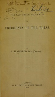 On the law which regulates the frequency of the pulse