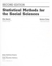 Cover of: Statistical methods for the social sciences | Alan Agresti