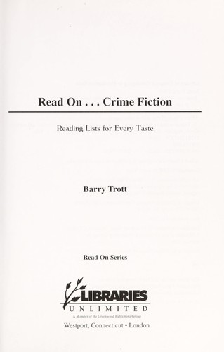 Read On...Crime Fiction by Barry Trott