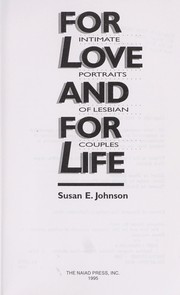 Cover of: For love and for life