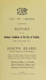 Cover of: [Report 1912]