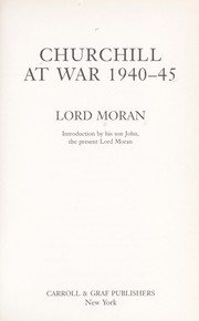 Cover of: Churchill at war 1940-45