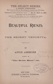 Cover of: Beautiful Rienzi | J. M. Mrs.] [from old catalog Simpson
