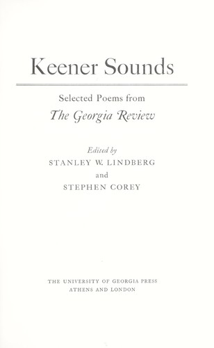 Keener sounds : selected poems from the Georgia review by