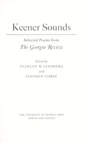 Cover of: Keener sounds : selected poems from the Georgia review |