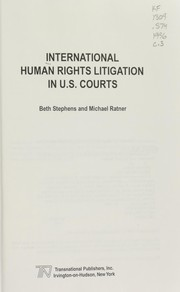 Cover of: International human rights litigation in U.S. courts
