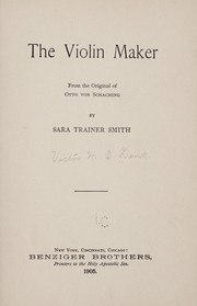 Cover of: The violin maker