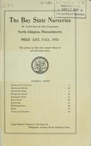 Cover of: Price list, fall 1924