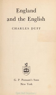 Cover of: England and the English