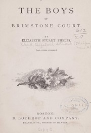 Cover of: The boys of Brimstone Court