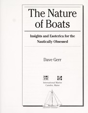 Cover of: The nature of boats | Dave Gerr
