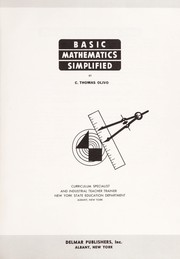Cover of: Basic mathematics simplified | C. Thomas Olivo