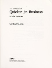 Cover of: The first book of Quicken in business