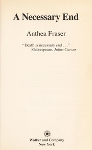 Cover of: A necessary end