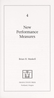 Cover of: New performance measures