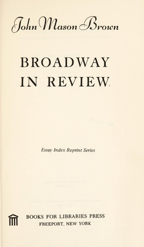 Broadway in review by