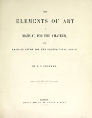 Cover of: The elements of art
