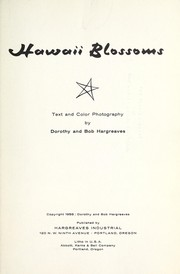 Cover of: Hawaii blossoms | Dorothy Hargreaves
