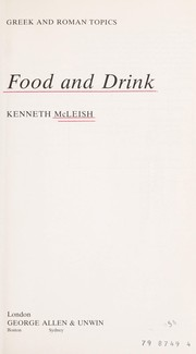 Cover of: Food and drink