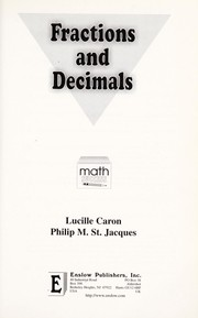 Cover of: Fractions and Decimals [electronic resource] |