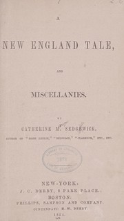 Cover of: A New England tale, and Miscellanies