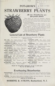 Cover of: Pot-grown strawberry plants | Bobbink & Atkins (Nursery)