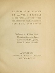 Cover of: La jeunesse inalterable et la vie eternelle