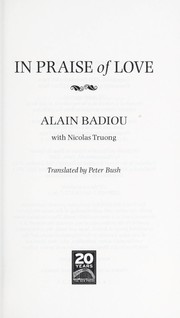 Cover of: In praise of love