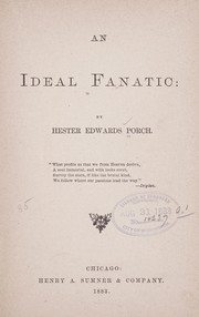 Cover of: An ideal fanatic