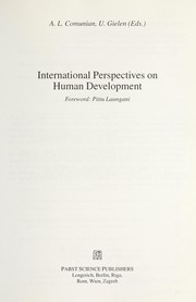 International perspectives on human development by